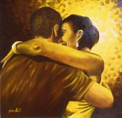 "<br />""Když tančím tango"", olejomalba na sololitu <br /> ""When I dance tango"", oil on board <br /> 70x70 cm <br />private collection<br />"
